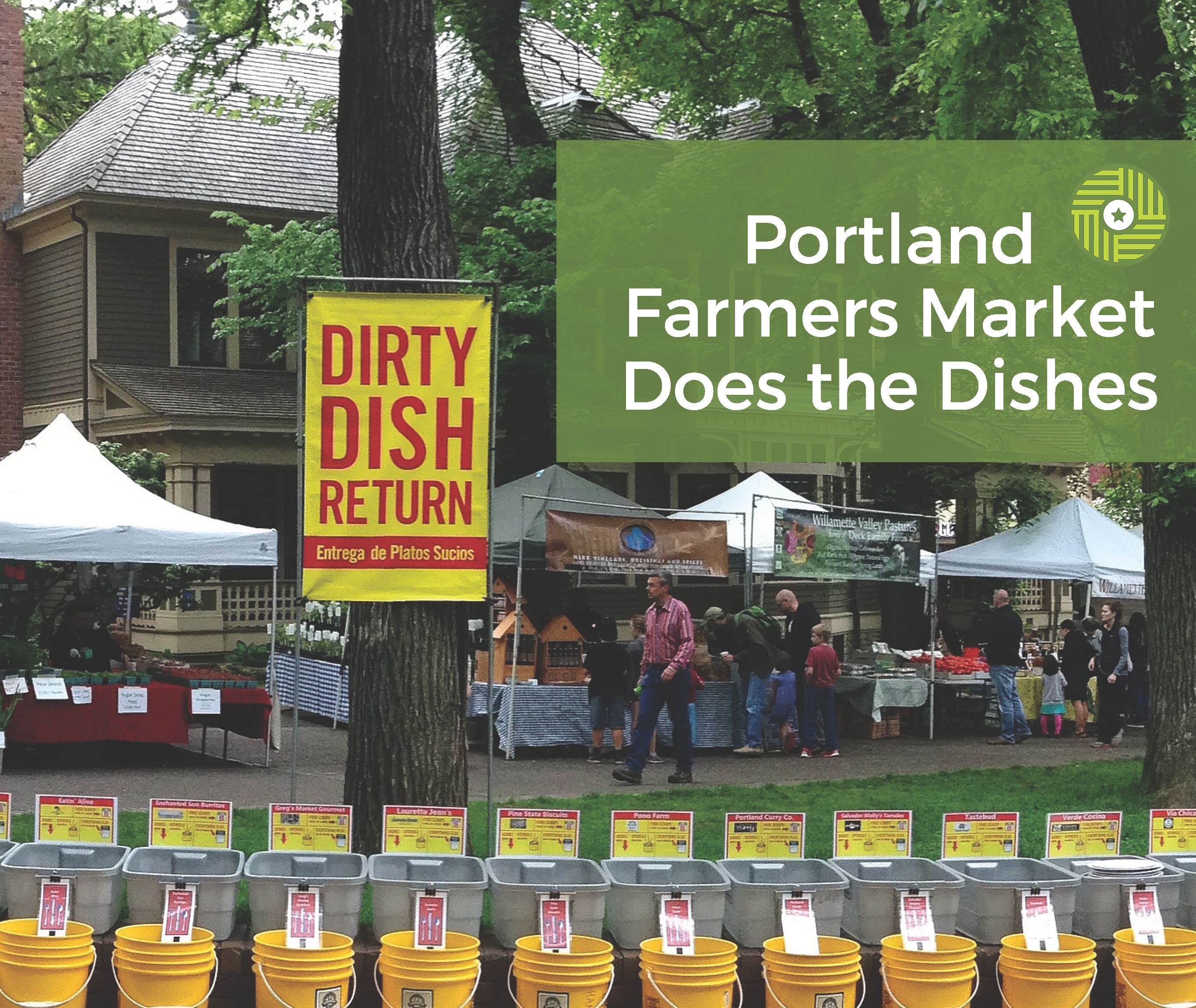 Portland Farmers Market Does the Dishes