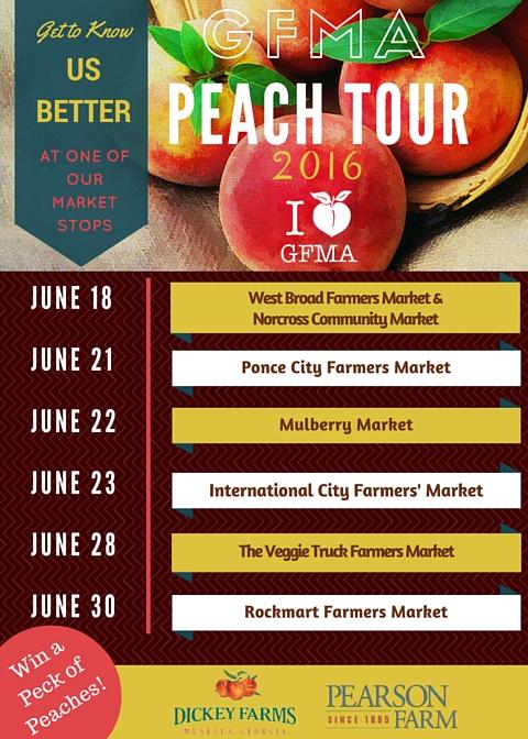 Peach Truck Tour Map